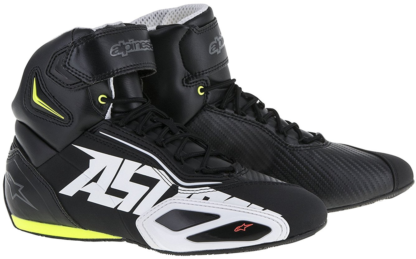 Alpinestars FASTER 2 BOOTS Black//White Motorbike//Scooter Shoes//Pumps