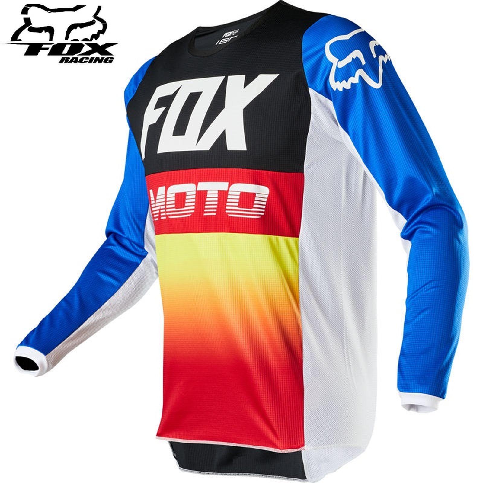 Maglietta cross Fox FX 180 FYCE JERSEY blu rosso