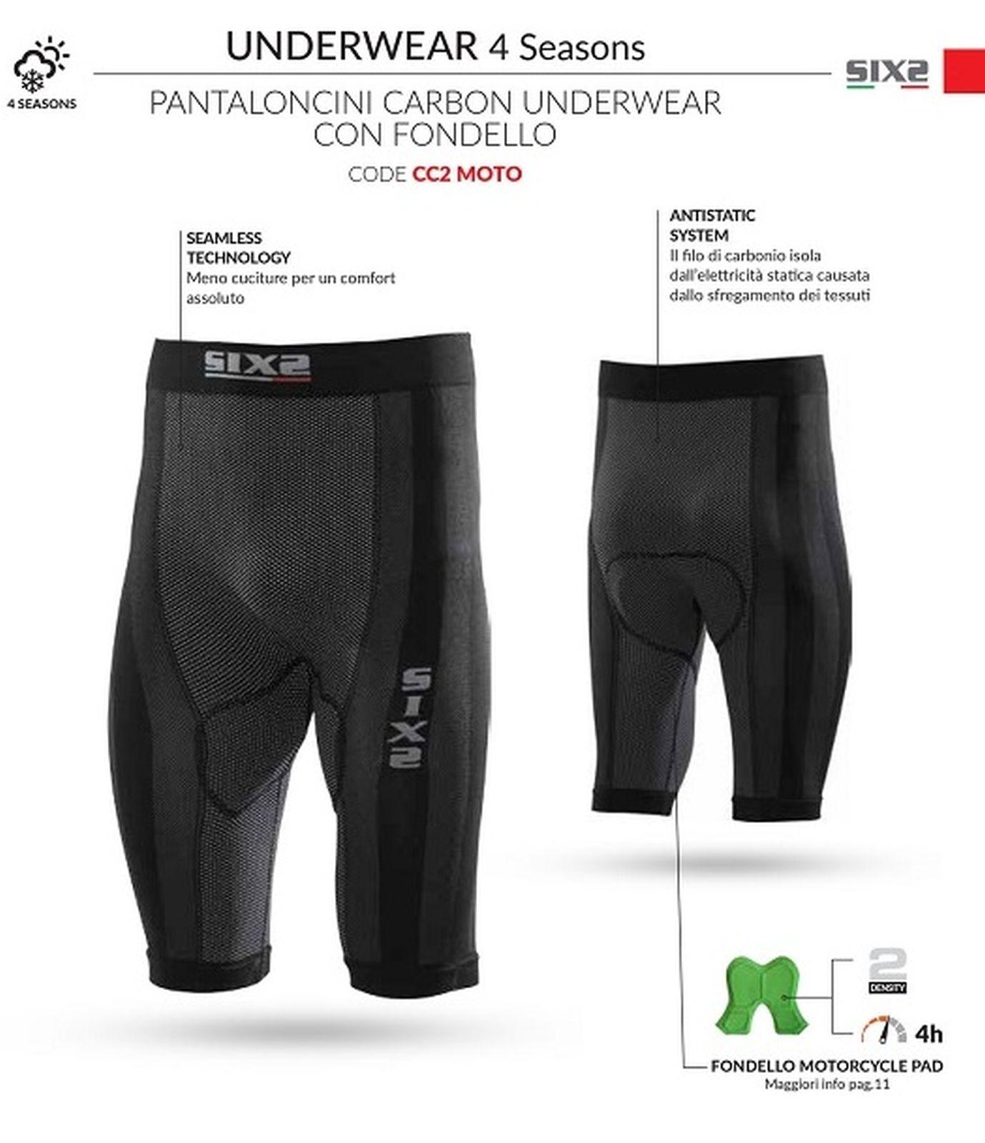 PANTALONCINI CARBON UNDERWEAR CON FONDELLO